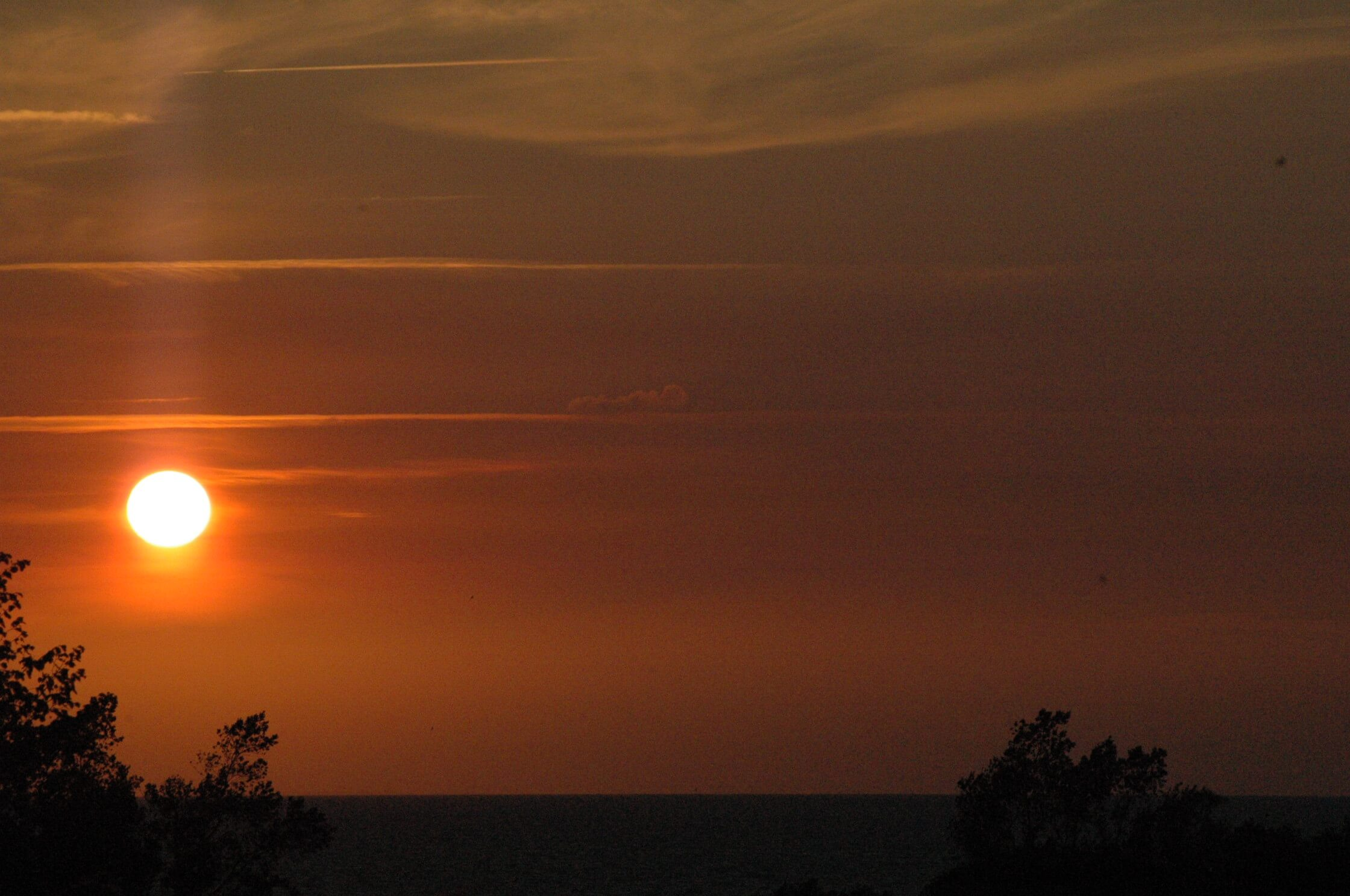 Sonnenuntergang Ostsee Camping